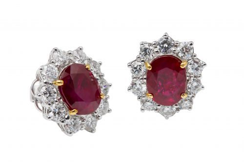 pigeons blood ruby diamond ring