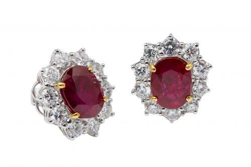 pigeons blood ruby diamond ring
