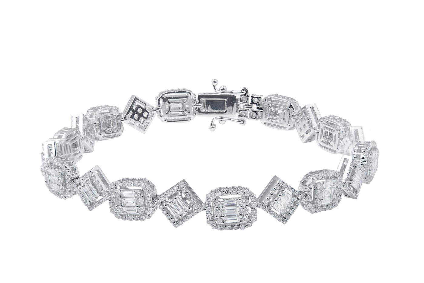 Compressed Diamond Bracelet