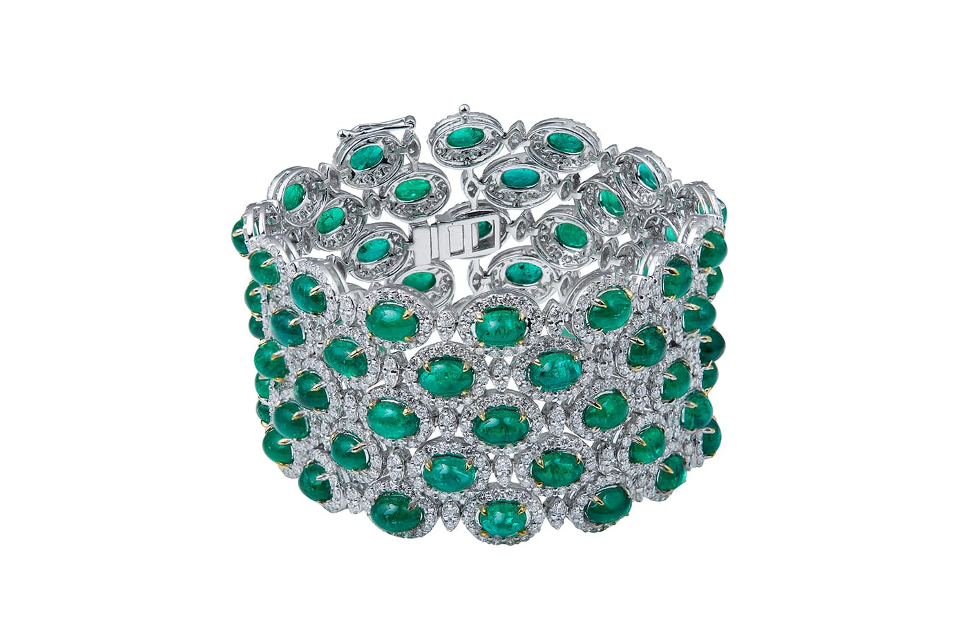 Zambian Emerald Diamond Bracelet