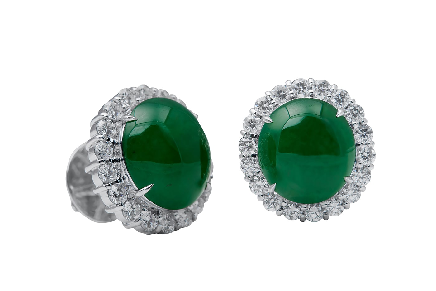 Jade Diamond Earrings