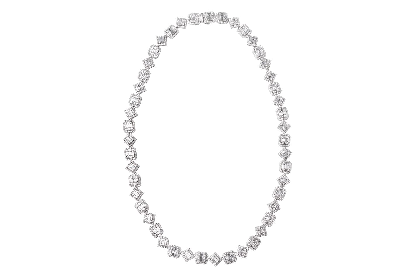 Compressed Diamond Necklace