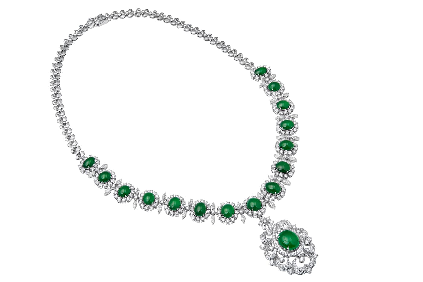 Imperial Jade Diamond Necklace