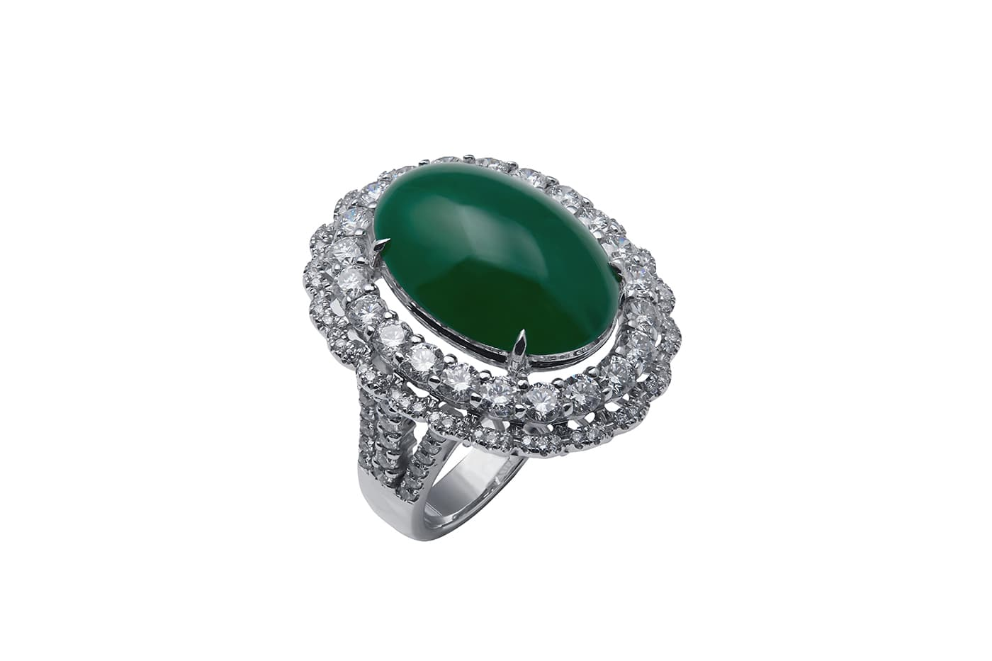 Jade Diamond Ring