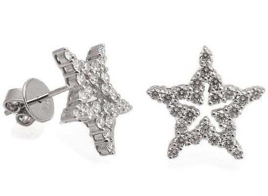 Star Round Diamond Earrings