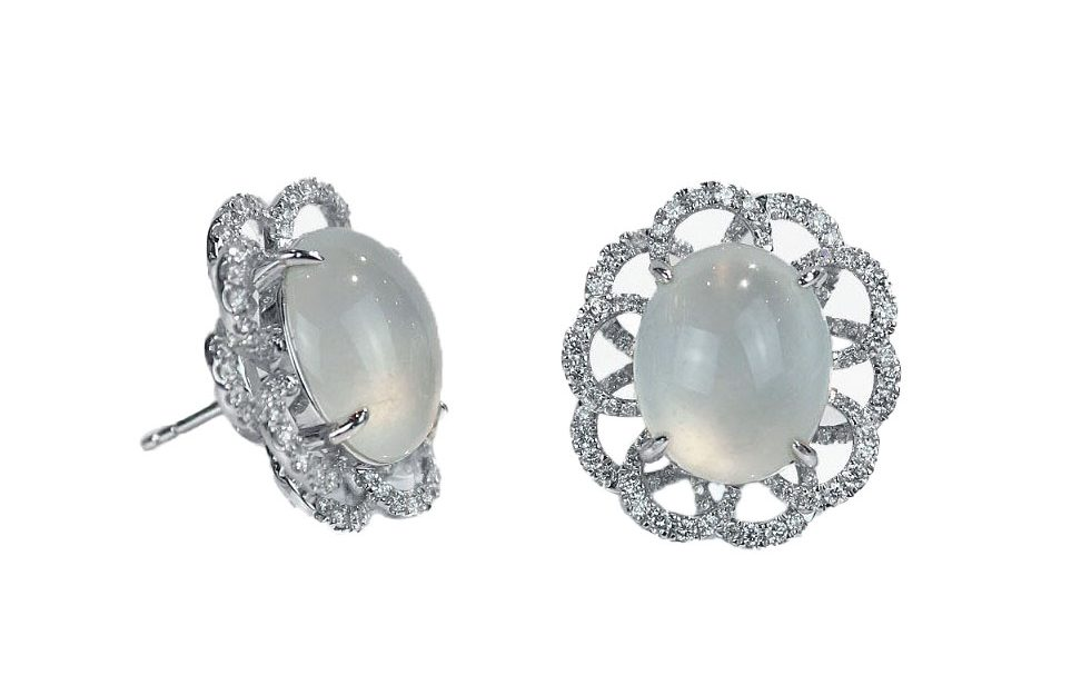 Ice Jade Diamond Earrings