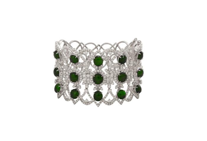 jadeite jade diamond bangle