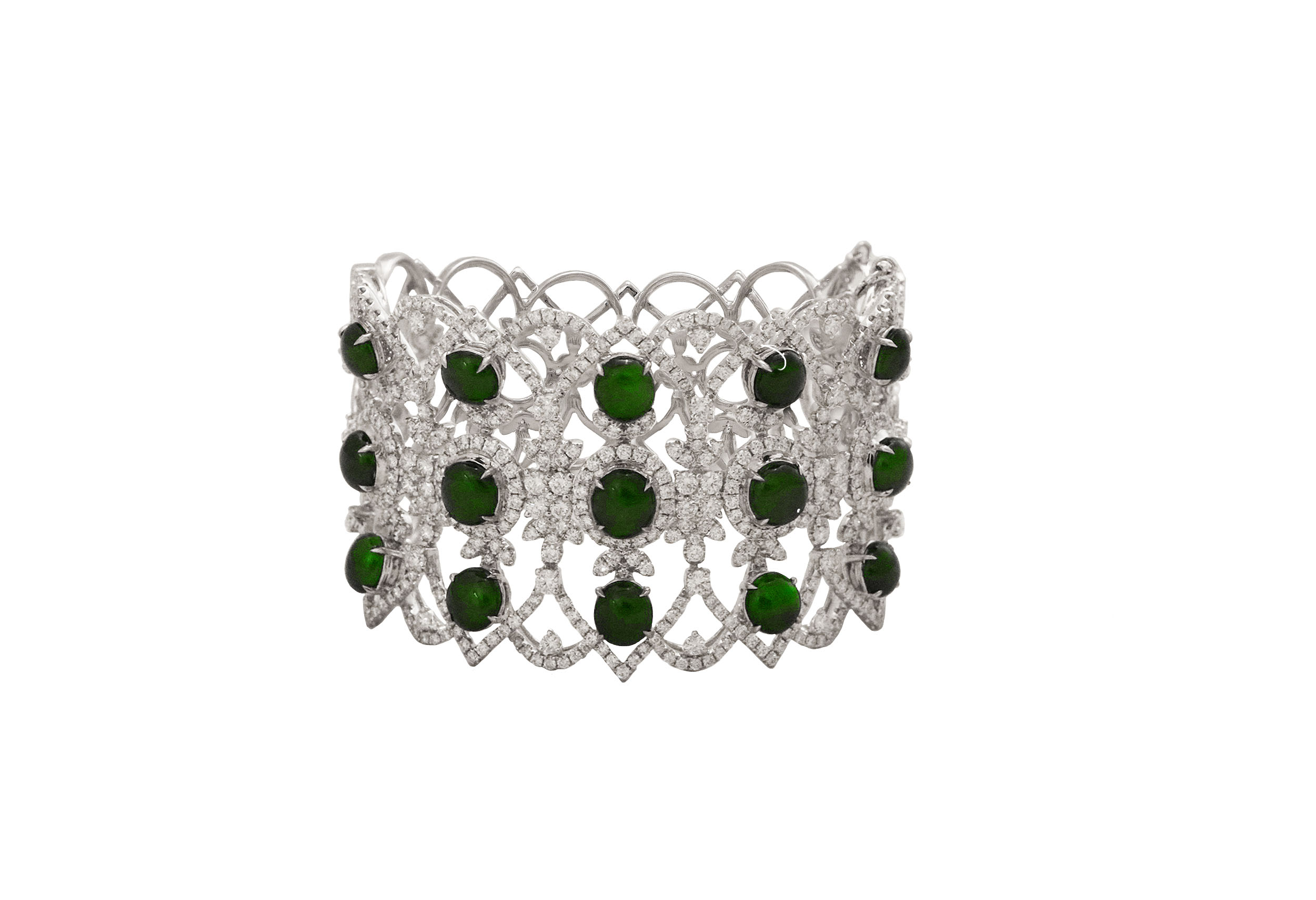 Jade Diamond Bangle