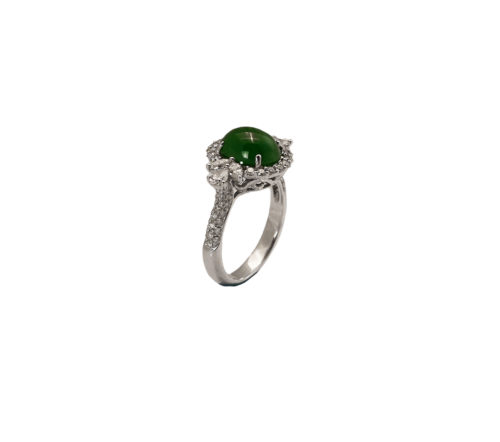 jadeite jade diamond ring