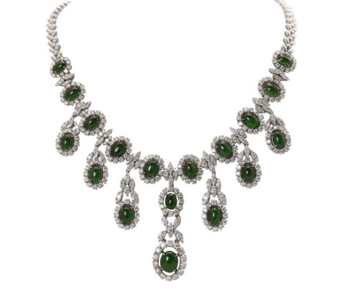 jadeite jade diamond necklace