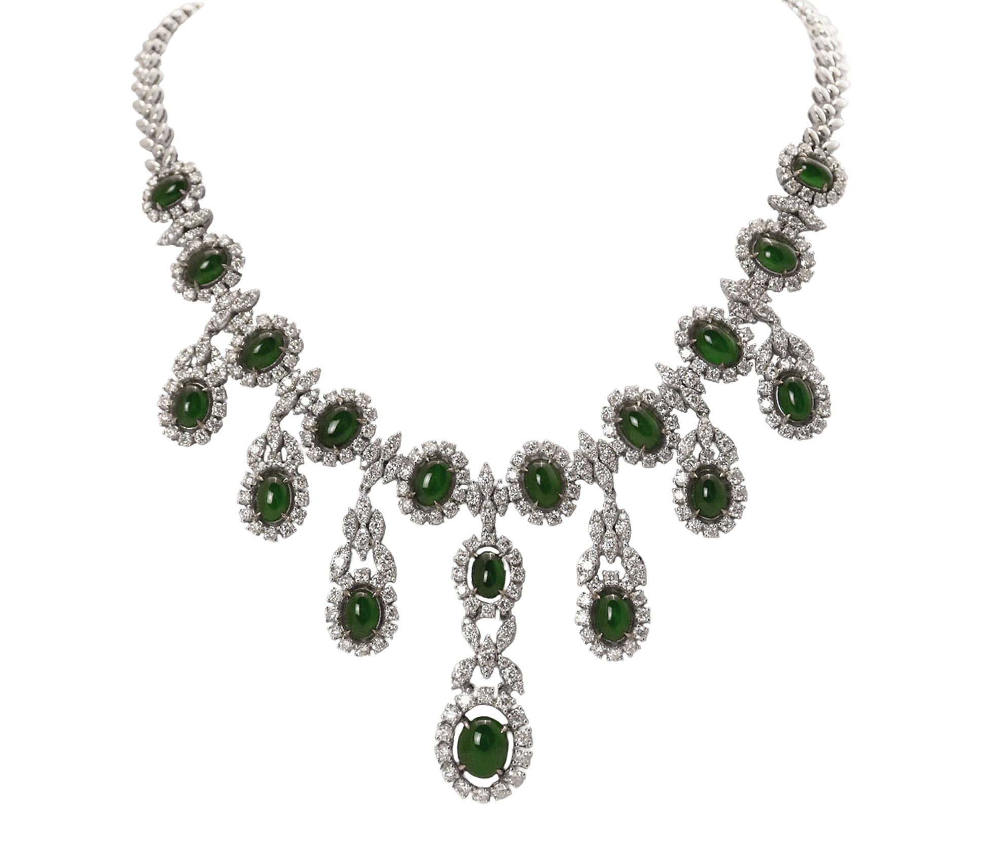 Chandelier Jade Diamond Necklace