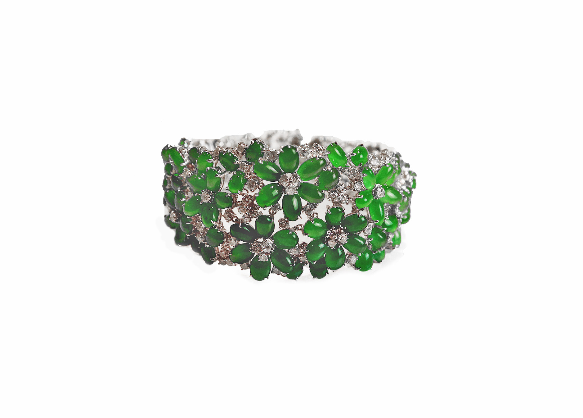 Imperial Jade Diamond Bracelet
