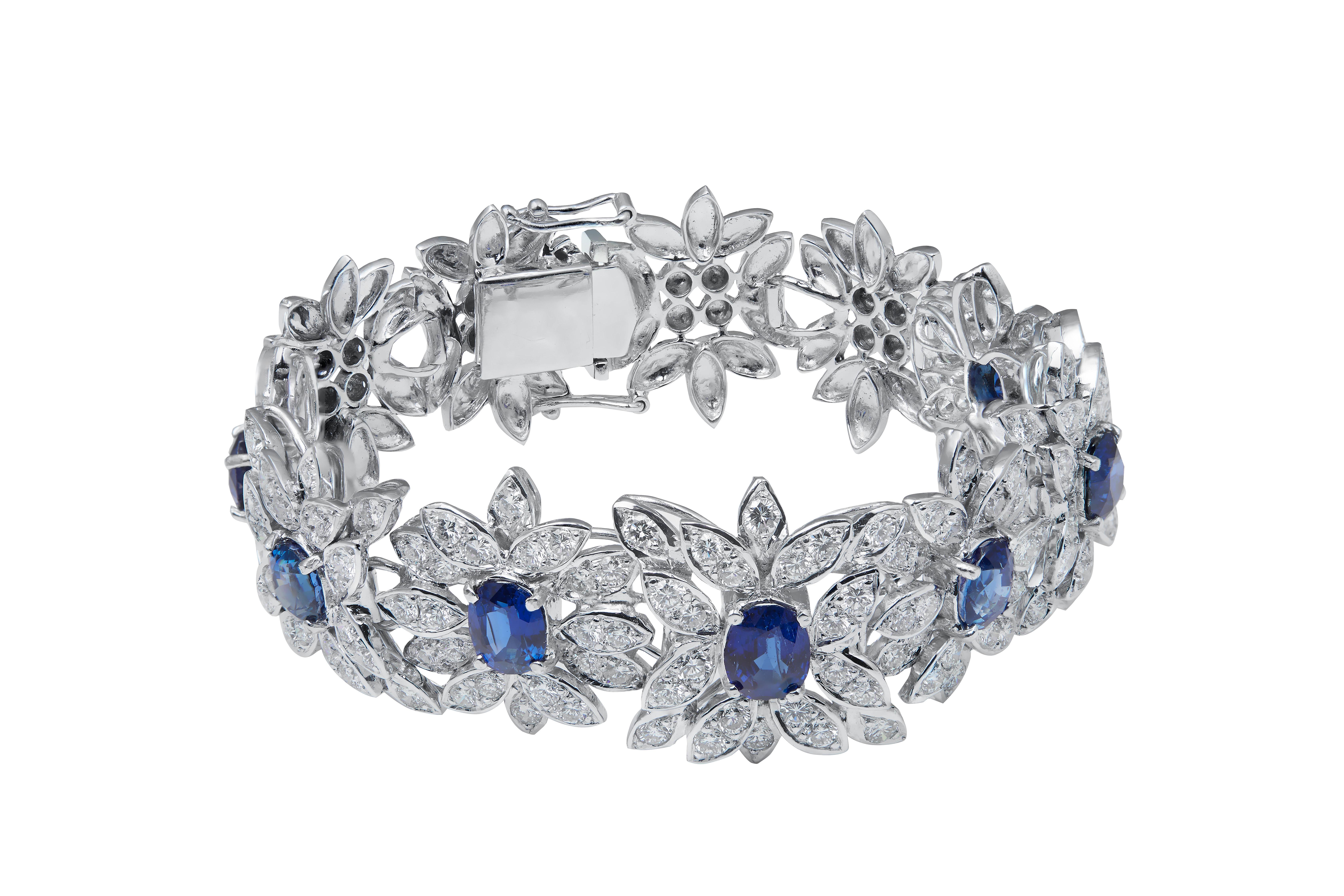 Blue Sapphire Diamond Bracelet
