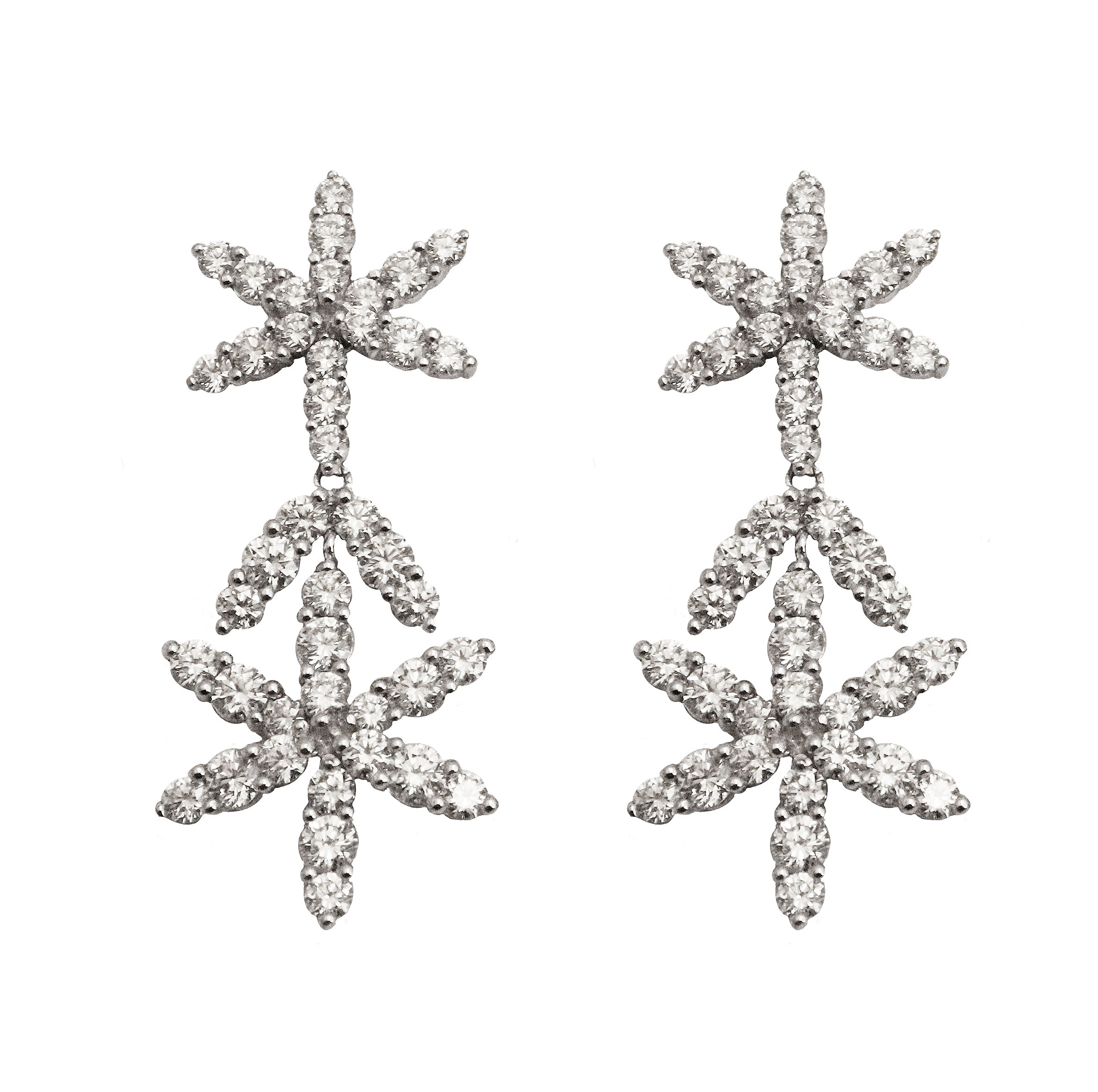 5-pointed Star Diamond Earrings