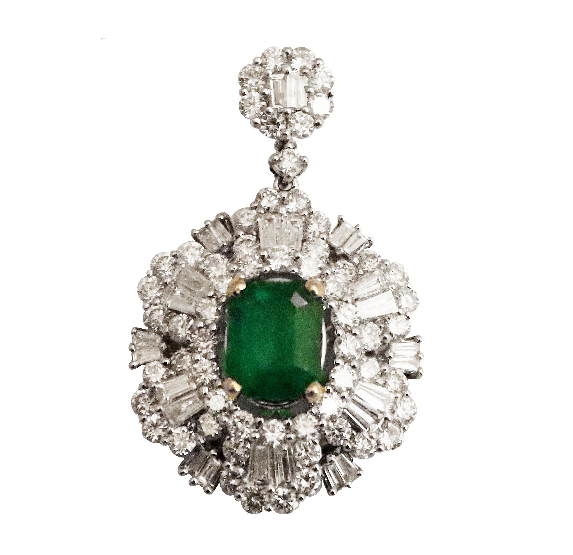 Emerald Diamond Pendant